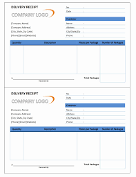 payment receipt wordtemplates net delivery receipt