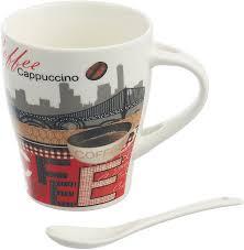 <b>Кружка COFFEE</b> 340 мл с ложкой — купить в интернет-магазине ...