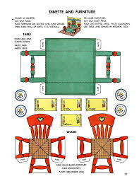 miniature printables dining table and chairs page23_drfjpg 12001555 vintage modern dollhouse furniture 1200 etsy
