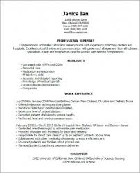 labor and delivery nurse resume   best resume samplelabor and delivery nurse resume examples