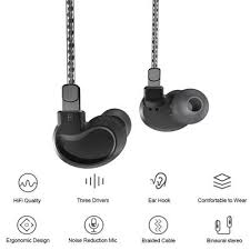 New Kuabe S600 HIFI Heavy <b>Bass</b> Sport <b>Earbuds Wired In</b>-ear ...