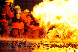 photos students from the louis f garland department of defense fire academy battle a blaze at