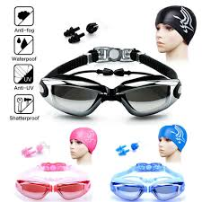 <b>Electroplating Swimming Goggles UV</b> Protection Anti Fog with Nose ...