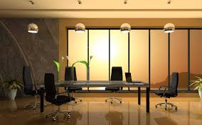 gallery of stunning office meeting room interior design ideas with shiny brown wooden base cabinet stainless steel legs support and awesome black leather awesome office interior design idea