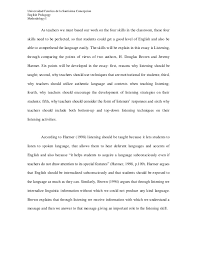 listening skills essay  doitmyfreeipme comparative essay between j harmer and h  d  douglas about listeningcomparative essay between j harmer