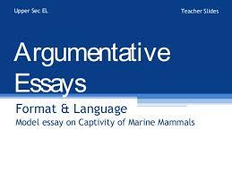 argumentative essay format argumentative essay   format and language use upper sec el teacher slidesargumentativeessaysformat amp languagemodel essay