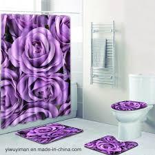 China <b>Waterproof</b> Polyester Fabric Bathroom 4 Pieces Bath Rug ...