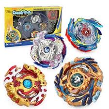 Uiiq Toys Burst Gyro Set 4 in 1 <b>Spinning Top Metal Fusion</b> Gyros Toy