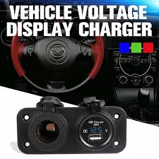 5A 6 28V USB Plug <b>Motorcycle</b> Car Electronic Adapter Cigarette ...