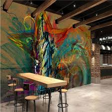 liberty bedroom wall mural: customize size mural wallpaper background the statue of liberty restaurant home decor wall covering living room