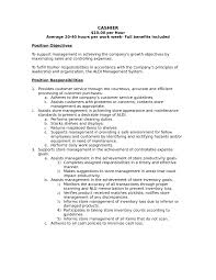 sample resume for food cashier  seangarrette cosample