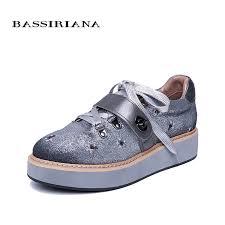<b>BASSIRIANA 2019</b> new women's flats Spring <b>Fall</b> Leather Flats ...