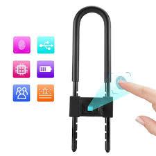 U Type Smart <b>Fingerprint</b> Safety Padlock <b>Bicycle Bike</b> Door Lock ...