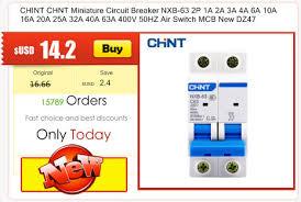 <b>CHINT</b> CHNT <b>Miniature</b> Circuit Breaker NXB 63 1P 1A 3A 6A 10A ...