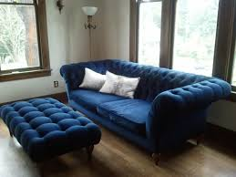 Navy Living Room Chair Blue Tufted Ottoman It Is Gorgeous Midnight Blue Velvet