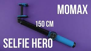 Распаковка <b>Momax Selfie Hero</b> Bluetooth 150 см Blue/Black ...
