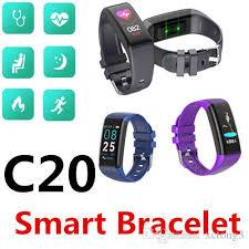 <b>C20 Smart Bracelet</b> Bluetooth Waterproof IP67 Heart Rate Blood ...
