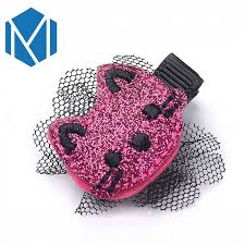 M MISM 1pc Girls Cute <b>Kitty</b> Cat Hairpins Baby Barrettes Children ...