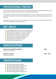 Cover Letter  Template Of English Resume Example With Profile Information And Core Competencies In Business     Rufoot Resumes  Esay  and Templates