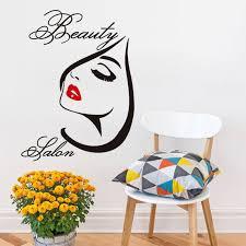 Hot Sale Self Adhesive <b>Wall Decals</b> Girls <b>Beauty</b> Salon <b>Vinyl</b> Wall ...