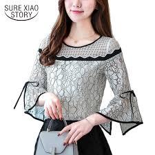 <b>2018 new arrival autumn</b> blouse female shirt office lady blouse slim ...