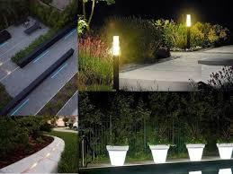 strip lights flower pots led lighting garden lighting amazing garden lighting flower