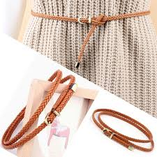 1PC Hot <b>Sale</b> thin High Quality Candy Color Braid <b>Belt</b> Fashion ...