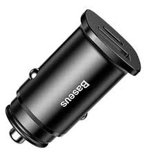 <b>Baseus</b> Car Charger Square metal 2USB <b>30W Dual QC3</b>.<b>0</b> Quick ...
