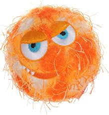 <b>Игрушка</b> для собак <b>GiGwi</b> Crazy Ball Мяч с пищалкой оранжевый ...