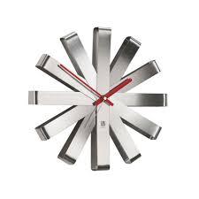 <b>Часы настенные Ribbon</b>, <b>стальные</b> - КРЕАТИВ ЦЕНТР