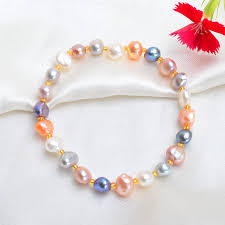 <b>ASHIQI Real</b> Natural Freshwater Baroque Pearl Bracelets & Bangles ...
