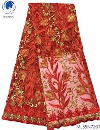 2019 <b>BEAUTIFICAL</b> Embroidered <b>Lace Fabric African Lace Fabrics</b> ...