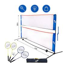 Kale <b>Badminton Set</b> for Adults and <b>Kids</b> with 10-Feet Net Stand ...