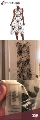 Calvin Klein Dress <b>Chiffon</b> sleeveless black and white dress- high ...