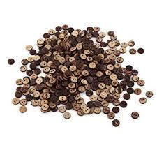 <b>Coconut Shell</b> 2 Holes Sewing Buttons, 400Pcs <b>Natural</b> Brown ...