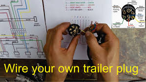 trailer wiring adapter 4 pin to 7 wiring diagram schematics how to wire a trailer plug 7 pin diagrams shown