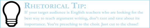 how to teach argument writing