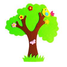 <b>1pc</b> Diy Craft <b>Felt</b> Tree Big Banyan Tree Wall Sticker <b>Cartoon</b> Wall ...