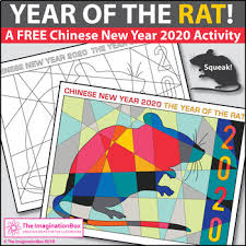 Chinese New Year 2020 Free Rat Coloring Pages by The ...