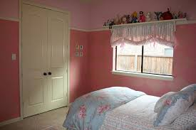 bedroom painting designs: girls bedroom paint with simple interior pink design for small bedroom