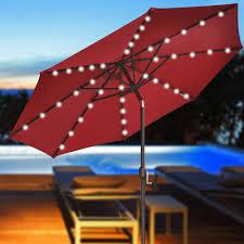 red patio umbrella addition umbrellas   patio umbrellas with solar lights