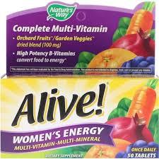 Nature's Way, <b>Alive</b>! Women's <b>Energy</b>, <b>Multivitamin</b>-<b>Multimineral</b>, <b>50</b> ...