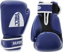 "Боксерские <b>перчатки Green Hill</b> ""Silver"", цвет: синий, белый ..."