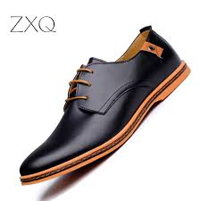 2019 Leather <b>Casual Men</b> Shoes <b>Fashion Men Flats</b> Round Toe ...
