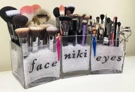 simplistic makeup brush storage makeup organizer ideas cosmetic storage awesome diy makeup