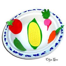 Картинки по запросу аплікація натюрморт в тарелі -овочі та фрукти