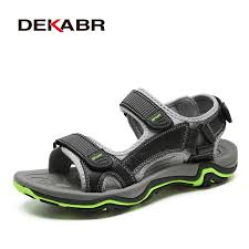 DEKABR High Quality <b>Summer Men</b> Sandals Real Leather NonSplit ...
