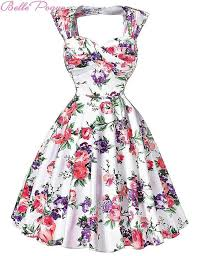 Women Summer <b>Retro Vintage 50s</b> Dresses Audrey Hepburn ...