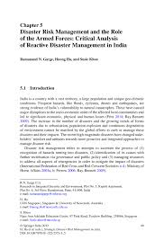 disaster risk management and the role of the armed forces strategic disaster risk management in asia strategic disaster risk management in asia