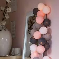Lighting Baby Bed Room Hanging <b>LED Cotton Ball</b> Lights Chain ...
